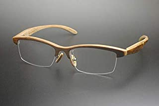 竹製めがねフレーム Z-553H(DOKUSOU TIKUHOU)【ルーツ】【鯖江産】【木のめがね】【竹めがね】【Bamboo Eyewear】【木製眼鏡】