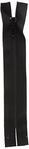 KORBOND–Nailon con Cremallera, 12cm, Color Negro
