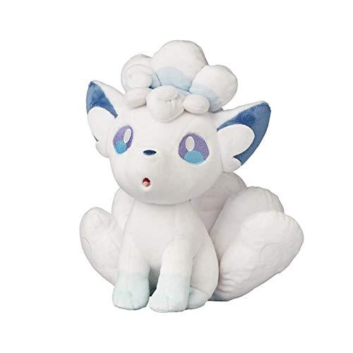 HHtoy 28cm Alolan Vulpix Plüschspielzeug- Anime Pokemon-Puppe Kissen Kuschelstofftier Kinder Mädchengeschenk