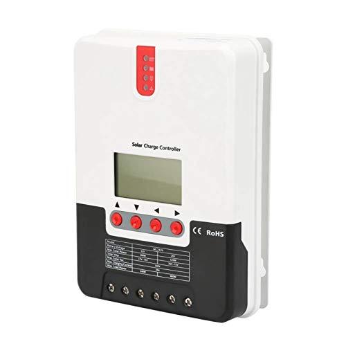 VINGVO MPPT Controlador de Carga Solar Controlador de Cargador Solar Ligero Mtifunction Batería Abierta Batería sellada Batería de Litio para batería de Gel(20A ML2420)