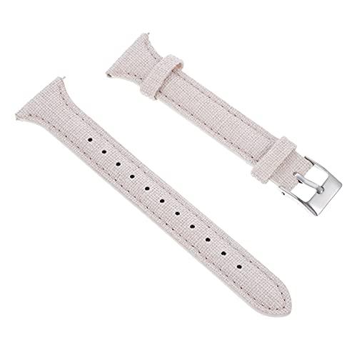 Abaodam Correa de reloj de 20 mm duradera Correa de reloj intercambiable Correas de correa de reloj inteligente Correa de repuesto Accesorios de reloj compatibles para Huawei Samsung (blanco)