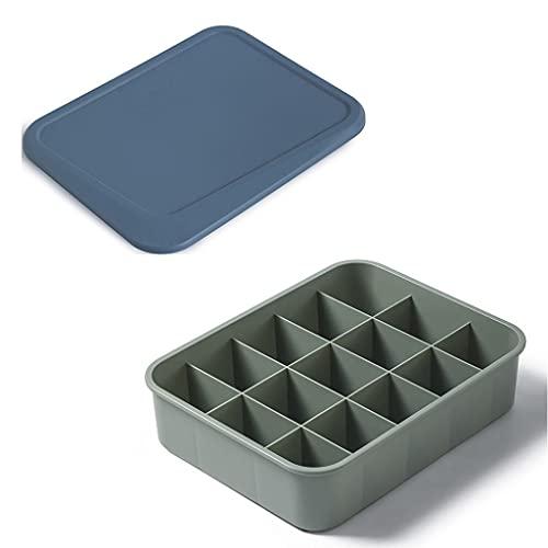 XTXY Caja De Almacenamiento De Plástico, 15 Rejillas, Armario, Armario, Organizador, Ropa Interior, Cajas De Almacenamiento para Guardar Calcetines, Pañuelos (Azul, Blanco, Amarillo) (Color : Blue)