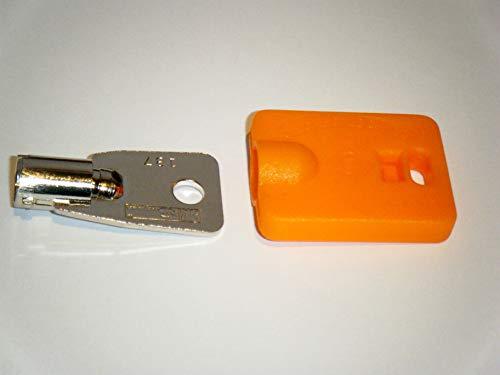 Elevator Fire Service Key and Orange ID Cap FEO-K1 KONE K1 Orange Key Cap for Easy Identification