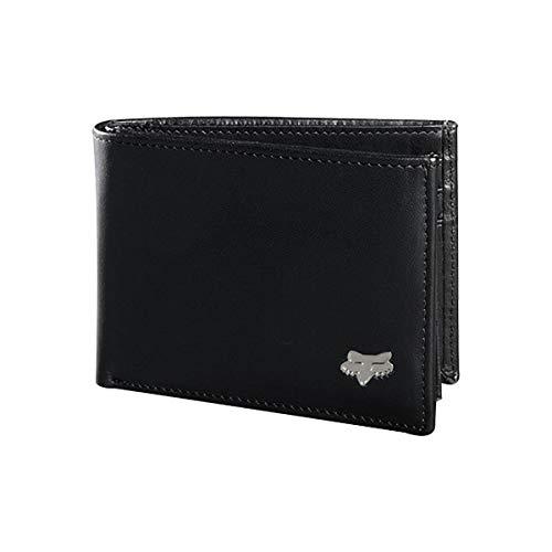 Fox Racing Bifold Leather Wallet-Black, OSFA