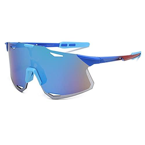 YHNY Gafas Deportivas al Aire Libre, Gafas de Sol para Montar en Bicicleta de montaña, 2021 Nuevas Gafas de Sol sin Montura, adecuadas para Todo Tipo de Deportes Type 4
