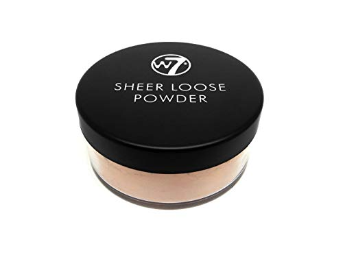W7 | Face Powder | Sheer Loose Powder - Biscuit | Fine Loose Powder | Perfect For All Skin Types