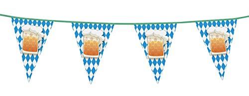 Boland- Filare Bandierine Boccale Festa della Birra, Azzurro/Bianco, 54200