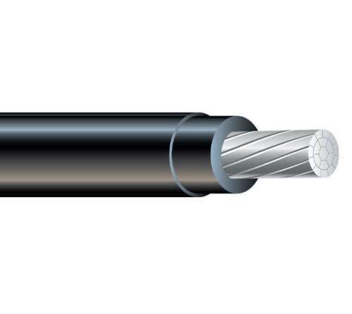 Nassau 4/0 AWG XHHW Stranded Aluminum Wire 600V (Black, 100FT)