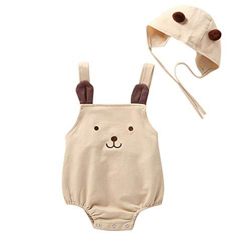 Body Bebe Recien Nacido Niña Verano Ropa Bebe Niño Sin Mangas Mono Bebés Chandal Infantil Bautizo Fiesta Disfraz Princesa Niña + Sombrero Trajes