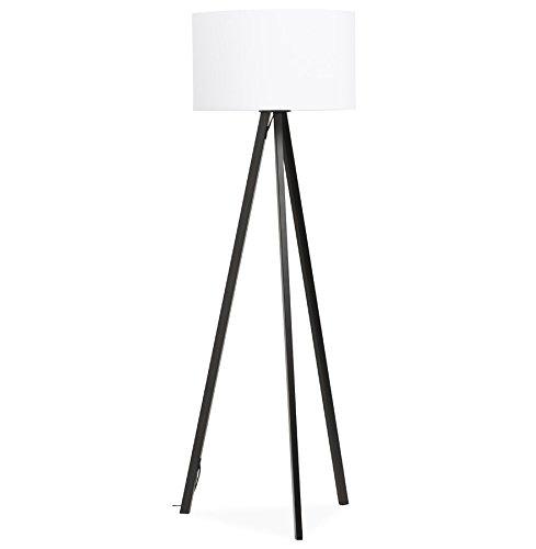 KoKoon FL00370WHBL TRIVET Lampadaire Plastique 40 W E27 Blanc/Noir 55 x 55 x 159 cm