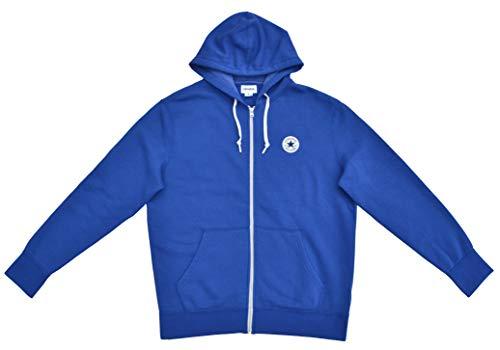 Converse Jacke Sweatshirt mit Kapuze Full Zip Hoodie Blau (L)
