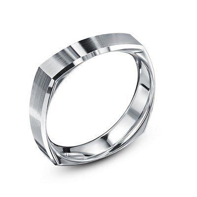 ANTON-www.diamants-perles.com-Alliance, matrimonio, oro bianco, 750/1000-18 carati, larghezza 5 mm