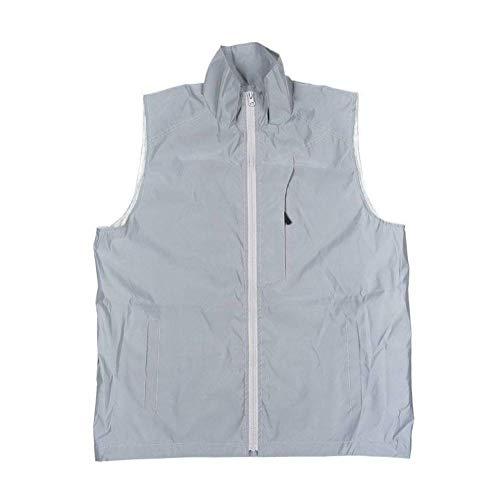 JUSTTIME Reflecterende Vest Outdoor Sport Rijden Clip Hip Hop Mouwloos Jas Nacht Veiligheid Plus Size Vest L Grijs