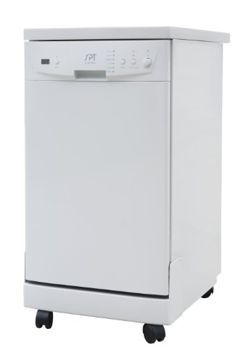 "SPT SD-9241W: Energy Star 18"" Portable Dishwasher - White"