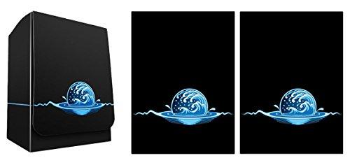 Max-Pro 1 Iconic Elemental Water Symbol Blue Island Deck Box + 100 Shuffle-Tech Sleeves (fits MTG Mana Cards)