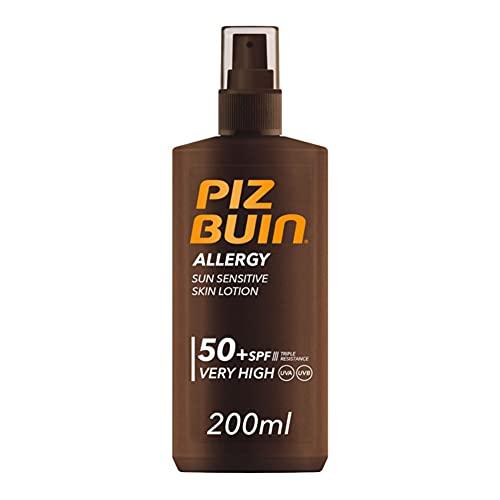 Piz Buin, Protector Solar Allergy Spray SPF 50+ Protección Muy Alta, 200 ml