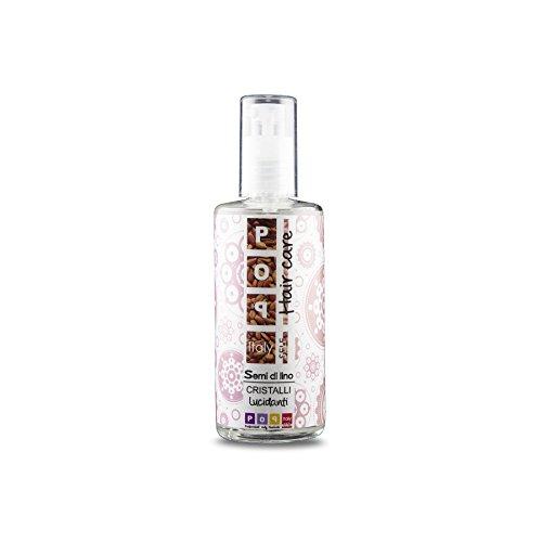 Pop Italy Cristalli Liquidi Lucidanti per Capelli con Olio di Semi Di Lino - 100 ml
