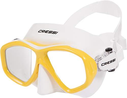Cressi Icon Mask Tauchermaske Für Damen Und Herren, Weiß/Gelb, Uni