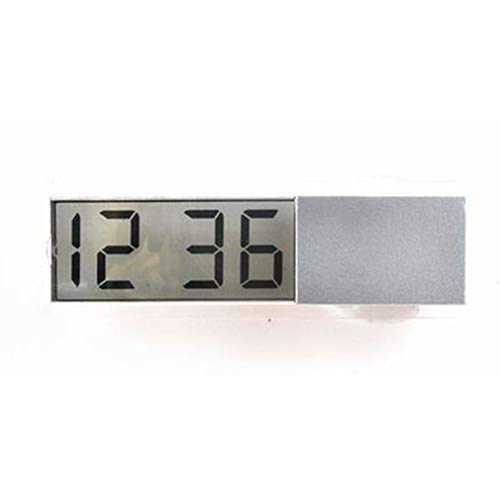 HermosaUKnight Relojes electrónicos para automóvil Accesorios para automóvil Reloj electrónico Reloj con Ventosa K-033 (Plateado)