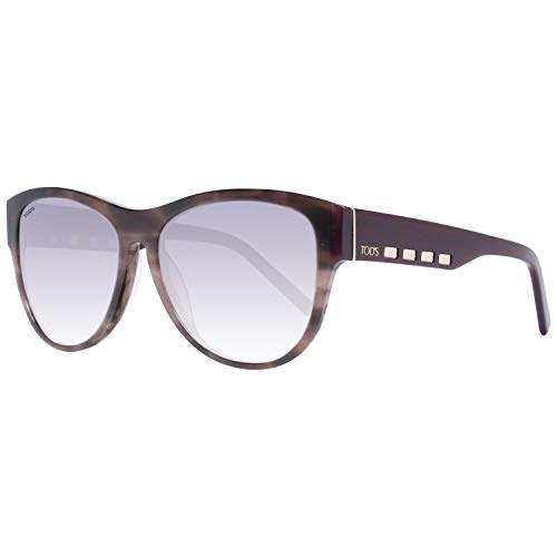 TOD'S TO0225 5656B Tods Sonnenbrille TO0225 56B Oval Sonnenbrille 56, Braun