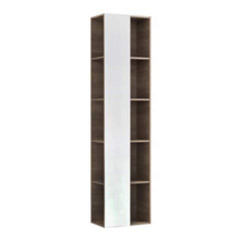 Geberit Citterio Regal mit Spiegel 500569JJ1, 40x160x25cm, Holzstruktur Eiche Graubraun