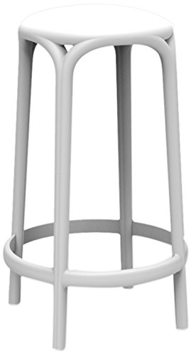 Vondom Brooklyn–Sgabello, 45x 45x 66cm, Colore: Bianco