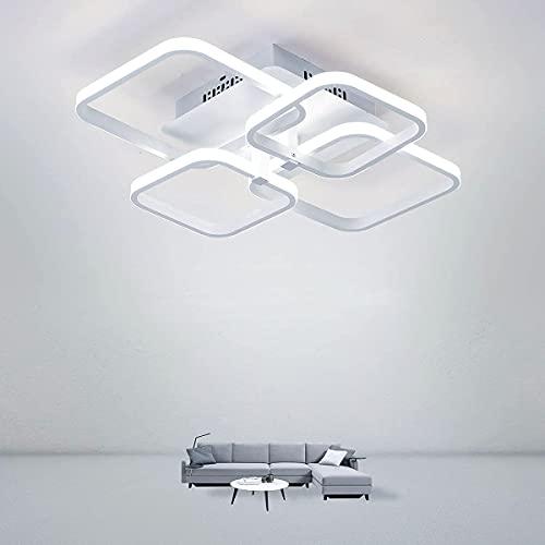 DAXGD Plafoniera a LED, Moderna Lampada da soffitto 52W, Plafoniere da soffitto 6000K, per Soggiorno, Cucina, Cucina, Camera da Letto