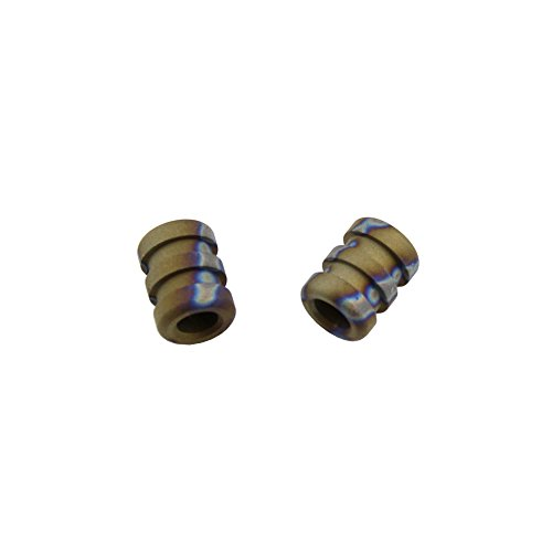 Spiral Titanium Knife Lanyard Bead EDC Zipper Pull 550 Paracord Necklace Bead Pendant (Pack of 2) (Flame)