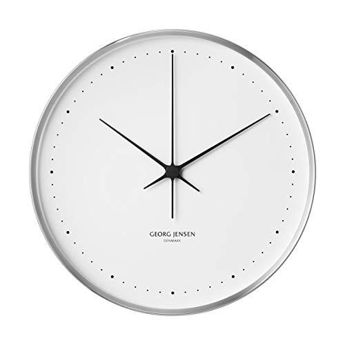 Georg Jensen Henning Koppel - Reloj de pared (acero inoxidable, diámetro de 40 cm), color blanco