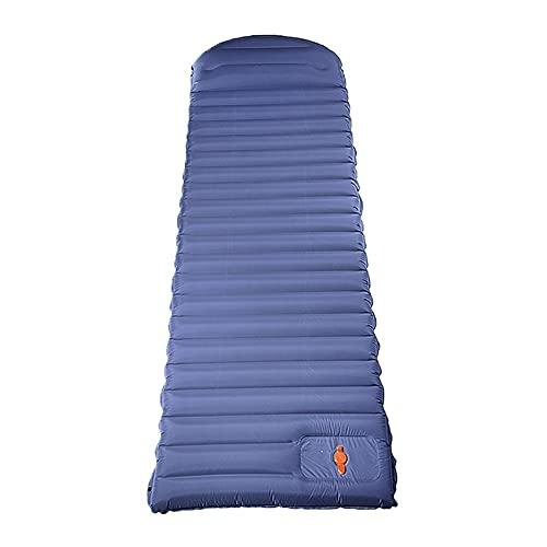 AOKUO Almohadilla de Dormir Acampada Inflable, Almohadilla de Dormir Inflable Plegable Inflable incorporada, colchón Inflable para Acampar Duradero, Adecuado para Camping al Aire Libre y montañismo