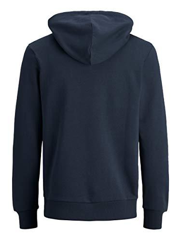 Jack & Jones Jjecorp Logo Sweat Hood Noos Capucha, Azul (Navy Blazer Detail: Reg Fit), X-Small para Hombre