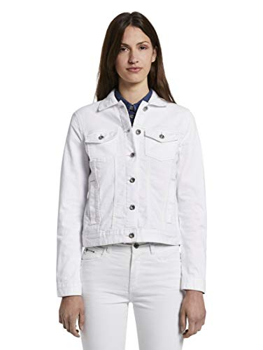 Tom Tailor Color Denim Giacca, 20000/White, XL Donna
