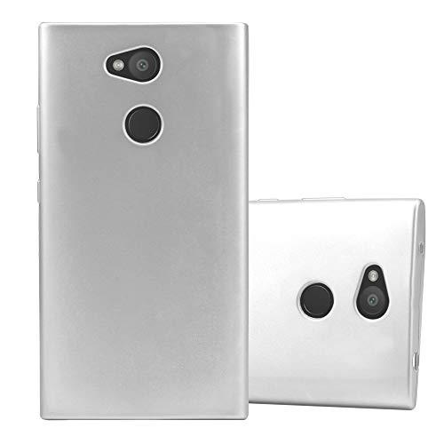 Cadorabo Hülle für Sony Xperia L2 in METALLIC Silber - Handyhülle aus flexiblem TPU Silikon - Silikonhülle Schutzhülle Ultra Slim Soft Back Cover Hülle Bumper