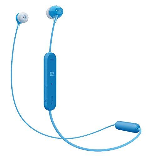Sony WI-C300 Kabelloser In-Ohr Kopfhörer (Neckband Design, Bluetooth, NFC, Headset mit Mikrofon für Telefon & PC/Laptop, bis zu 8 Stunden Akkulaufzeit, Voice Assistant) blau