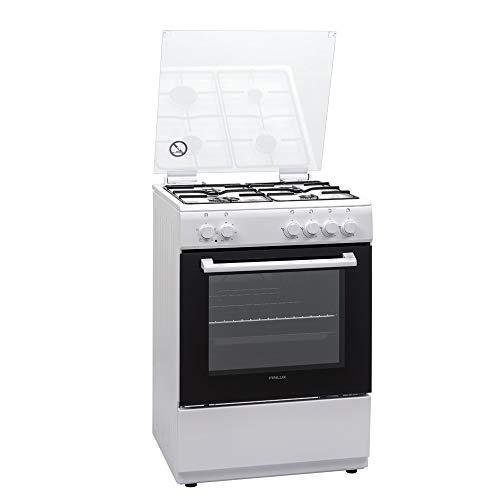 Finlux FXMC66WEM - Cucina a gas 4 Fuoch con forno elettrico