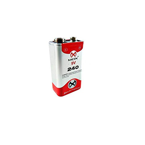 Bateria Recarregável 9v E 240mah Mox Original Alta Qualidade