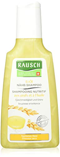 Rausch Ei-olie voedingsshampoo (verzorgt de droge haarstructuur, geeft soepelheid en glans zonder siliconen en parabenen), per stuk verpakt (1 x 200 ml)