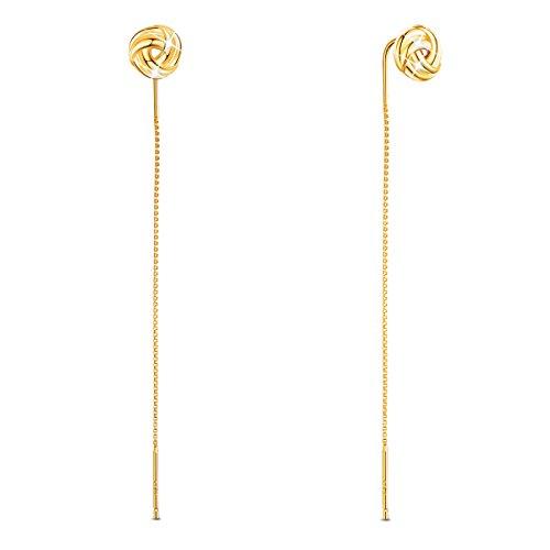 SHEGRACE Orecchini da Donna Lunghi Rosa in Argento 925 Platino, Oro Rosa, Orecchini in Oro, Regalo Elegante per Ragazze