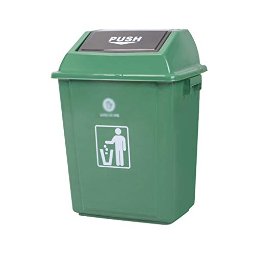 Best Price WQEYMX Outdoor Trash can Swing Box Home Garden Kitchen Garbage Recycling Plastic Trash Wh...