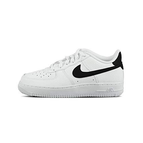 Nike Air Force 1 (GS), Scarpe da Basket, White/Black, 38 EU