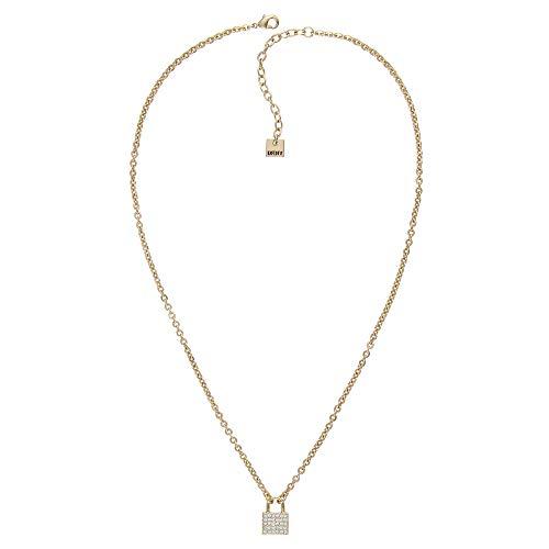 DKNY Donna Karan Necklace Small Crystal Padlock with Swarovski Crystal