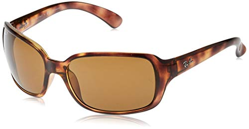 Ray-Ban RB4068 Square Sunglasses, Tortoise/Polarized Crystal Brown, 60 mm