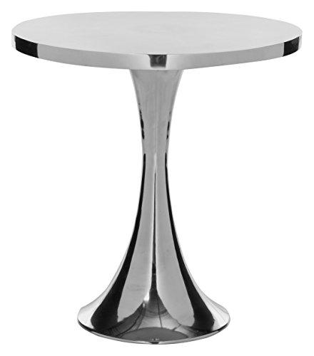 Safavieh Benson Side Table Beistelltisch, Metall, Silber, 46 x 46 x 49.02 cm