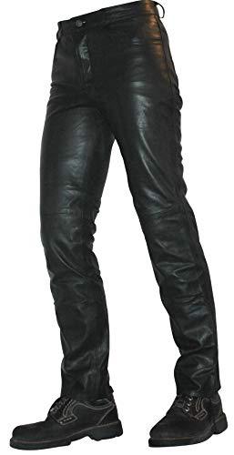 Erogance Lamm Nappa Leder/Echtleder Jeans Herren Lederhose Modell S85 W34