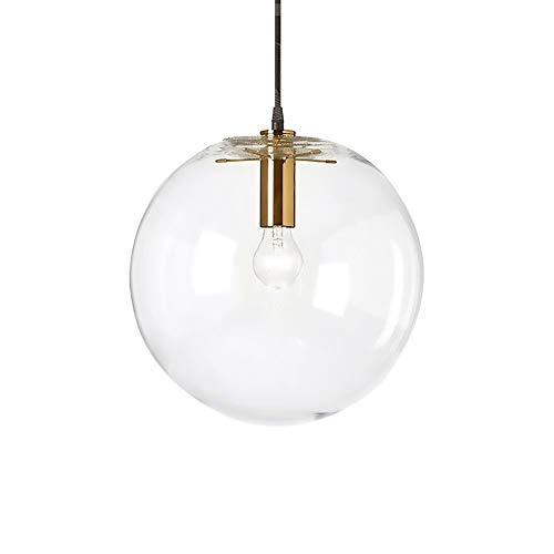 XXYHYQHJD Simple Single Head LED Living Room Dining Room Light Bubble Light Glass Ball Chandelier Pendant Light (Size : 30cm)