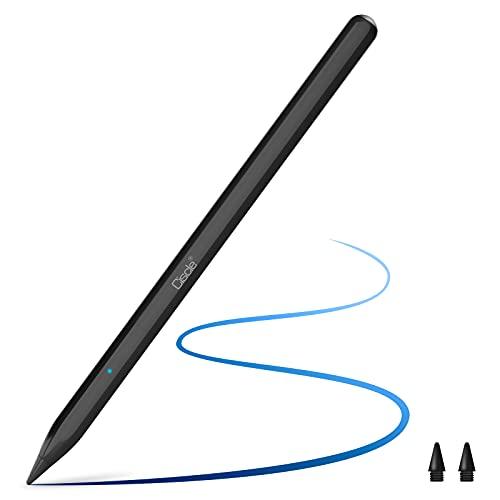 Ciscle iPad対応 タッチペン iPadペンシル 傾き感知機能 パームリジェクション機能 磁気吸着 持ちやすい 滑りにくい 5分自動オフ 磁気充電 遅延なし 2018-2021年iPad/iPad Pro/iPad air/iPad mini対応 交換用ペン先付き ブラック