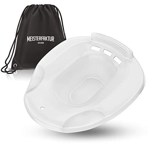Meisterfaktur Bidet Einsatz für Toilette - 100% bruchsicher - Ideale Sitzbadewanne Toiletteneinsatz für Schwangere - Tragebares Sitzbad für Behandlungen (Weiß)