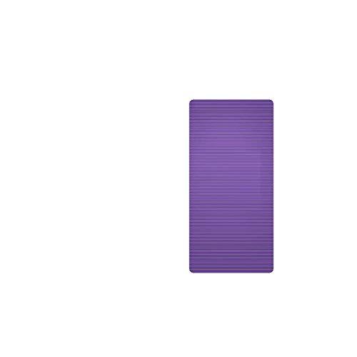 Tapis de Yoga Long | 185X80 Grande Taille Gym Workout Yoga Mat pour Hommes NBR Antidérapant Exercice Tapete Gymnastique Tapis De Remise en Forme 15 MM Pad Sport avec Bandages-185X80X1 CM Violet-