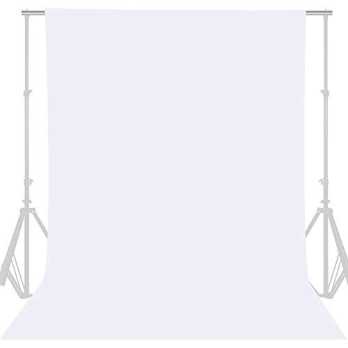 GFCC 8FTX10FT White Backdrop Background for Photography Photo Booth Backdrop for Photoshoot Background Screen Video Recording Parties Curtain
