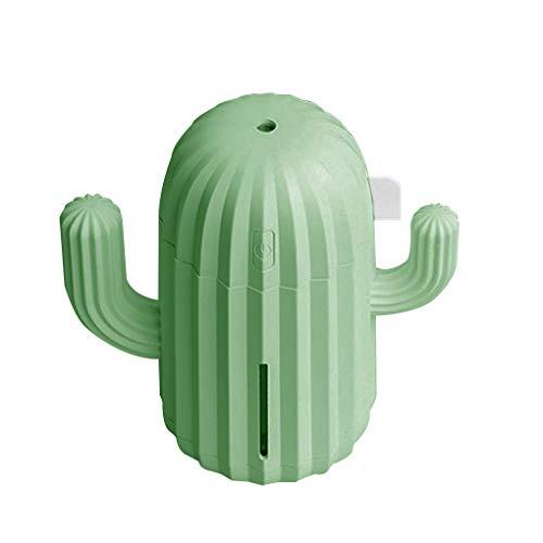 Yihaifu Humidificador de Aire del Ministerio del Interior de Aire Difusor Difusor de Cactus Cactus Diseño USB Powered 340ml LED humidificador, Verde